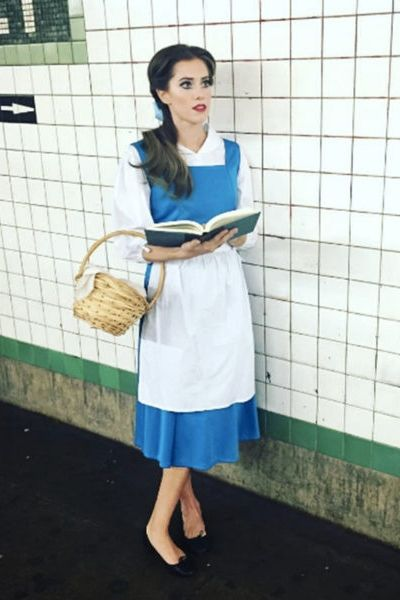 Allison Williams as Belle from Beauty and the Beast is the perfect, cute Halloween costume. Disney nostalgia, anyone?