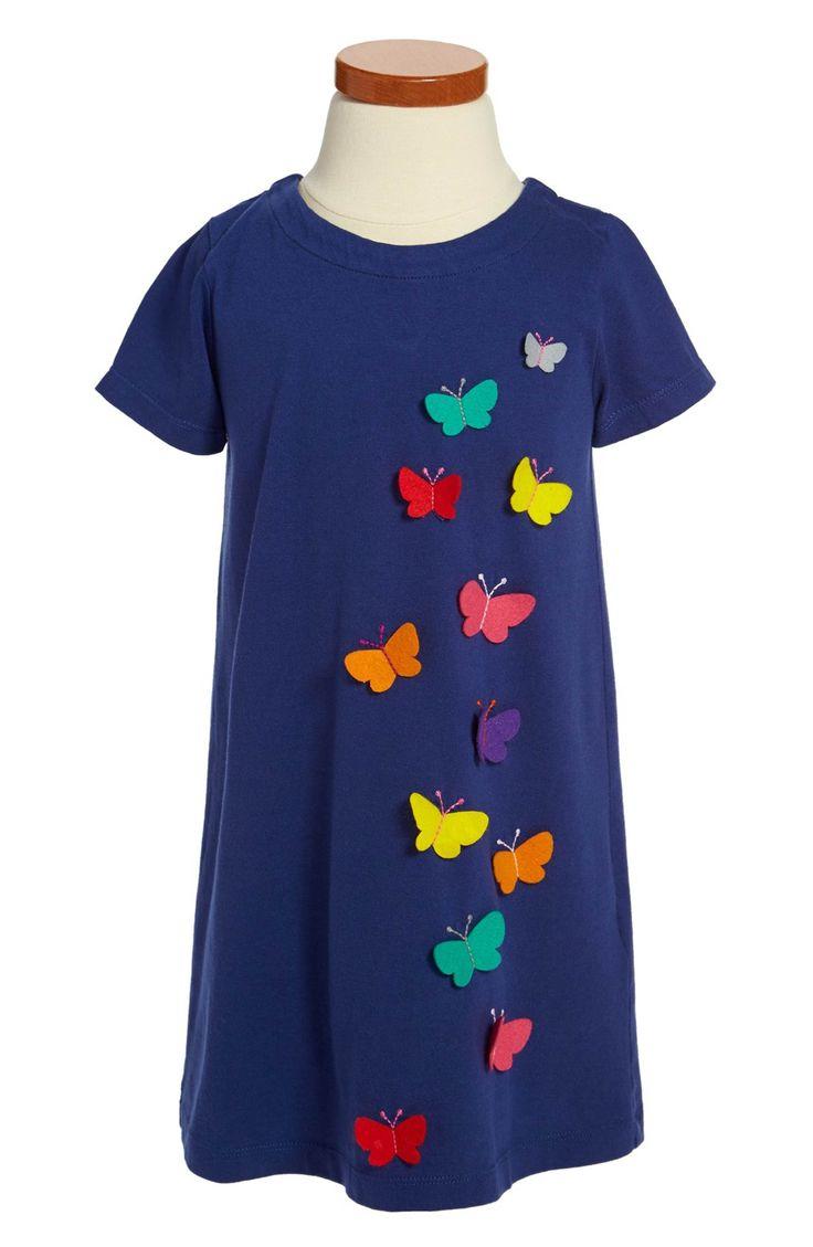 Main Image - Mini Boden Appliqué Cotton Dress (Toddler Girls, Little Girls & Big Girls)
