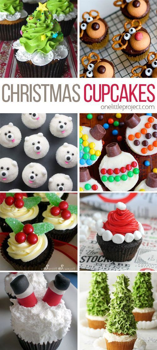 These Christmas cupcakes are totally doable! And they're SO CUTE!