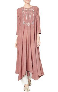 Marsala cotton georgette tunic