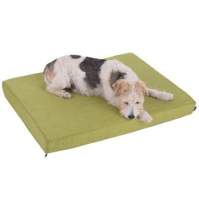 Psí polštář s čalouněním v zelené barvě