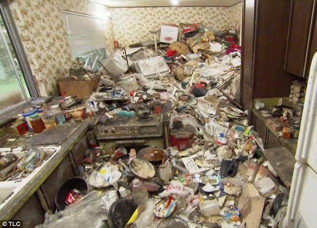 Health hazard: Michelle, 56, has been living in her three-bedroom bungalow