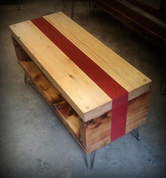 Salvaged floor beam coffee table by RecycledBrooklyn on Etsy, $335.00