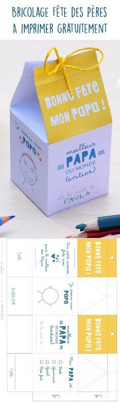 Bricolage fête des pères :) Un patron de boîte à imprimer gratuitement