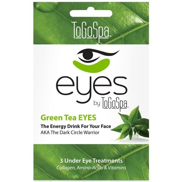 ToGoSpa Green Tea Eyes Collagen Gel Mask, from Purebeauty Salon & Spa (€16) ❤ liked on Polyvore featuring beauty products, skincare, eye care, no color, gel eye mask, green tea skin care, green tea mask, dark circle eye treatment and gel mask