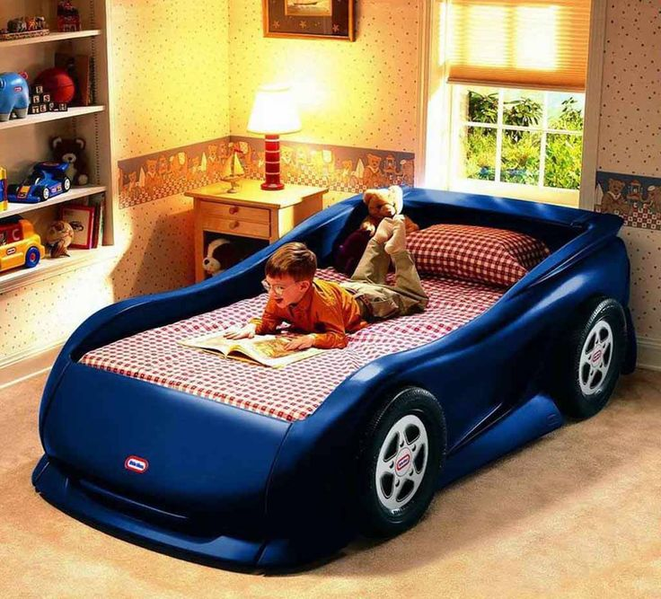 Little Tikes Sports Car Twin Bed Features Ideal For Ages 3 Years And Up Racecar Styling Realistic Wheel Details Standard Mattress Not