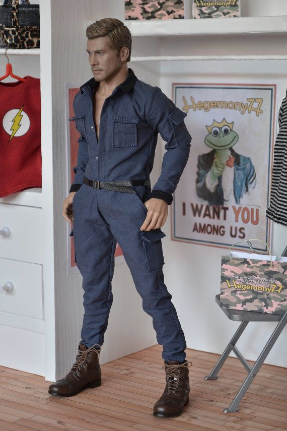 1/ 6 scale coverall for Ken Fashion Royalty by DollClothesStore, $120.00