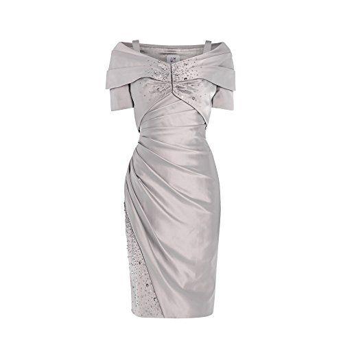 (アヌーシュカ ジー) ANOUSHKA G レディース ドレス パーティドレス ANOUSHKA G Daniella satin dress with shawl jacket 並行輸入品  新品【取り寄せ商品のため、お届けまでに2週間前後かかります。】 表示サイズ表はすべて【参考サイズ】です。ご不明点はお問合せ下さい。 カラー:Grey