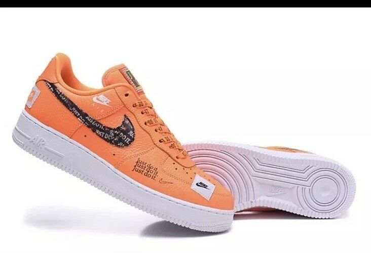 Nike Air Force 1 Low Just Do It Mens Size 10 5 Orange White