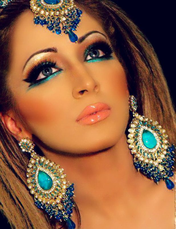 persian women makeup & jewels