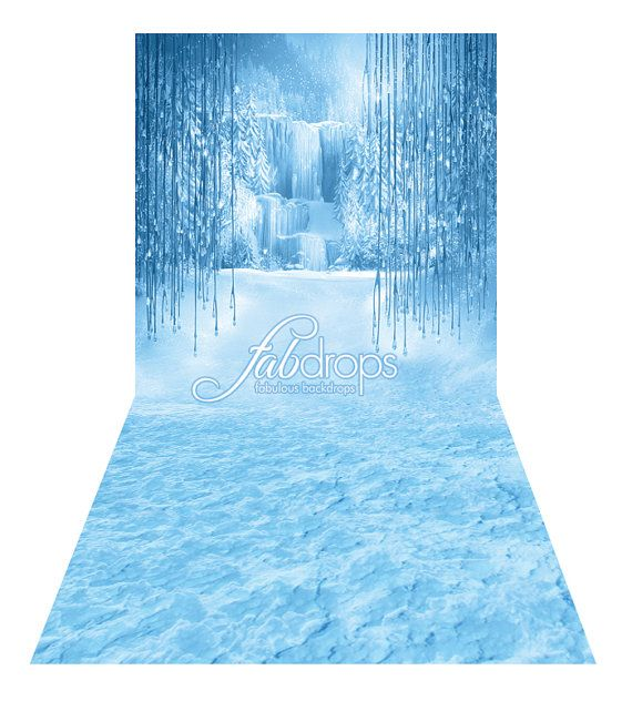 Frozen Enchanted Forest Backdrop perfect for Frozen Birthday Parties by FabDrops