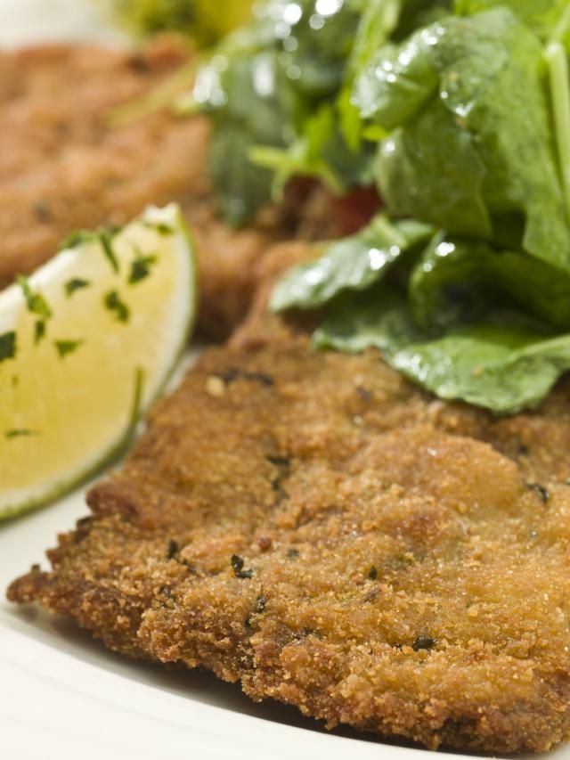 How to make Milanese-style breaded veal cutlets -- a close relative of Vienna's Wiener Schnitzel.