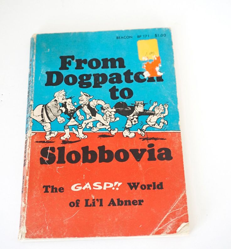 Vintage Li'l Abner Comic Book From Dogpatch to Slobbovia: The gasp!! World of Li'l Abner by LittleRiverVintage on Etsy
