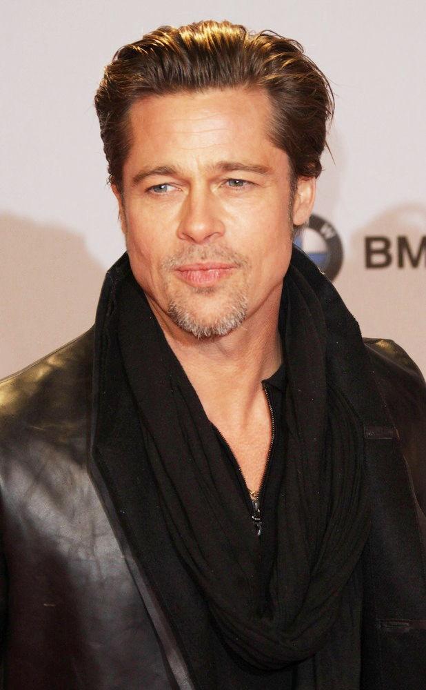 Images Of Brad Pitt Hair 2009