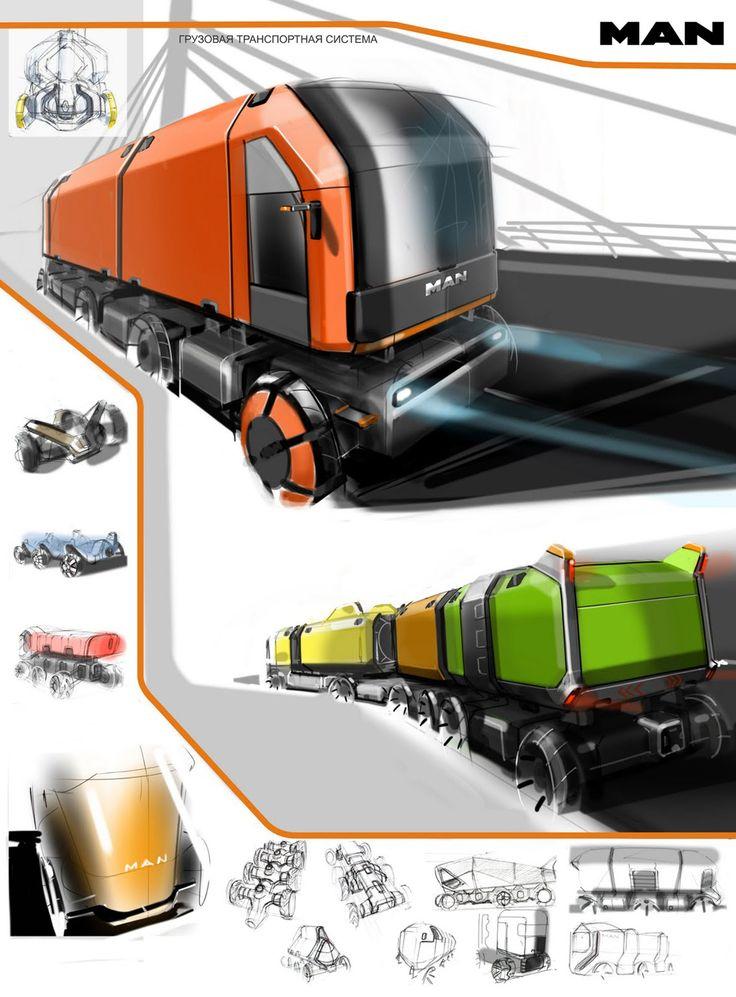 Concept truck designs by Slava Kazarinov