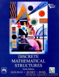 Buy Discrete Mathematical Structures 6 Edition Robert C. Busby, Sharon Cutler Ross - Appliances MaxDeal