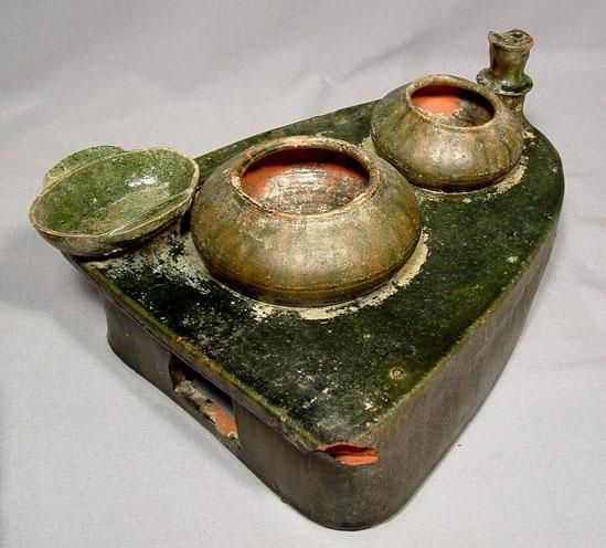 Ancient Chinese Ceramic Stove Model, Eastern Han Dynasty http://www.pinterest.com/mysticetes/art/