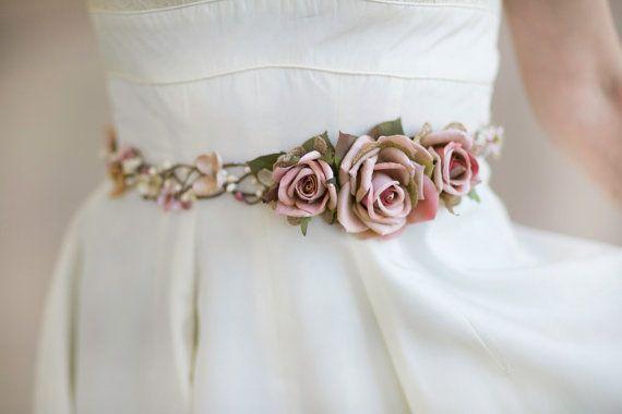 bridal belt bridal belt sash pink wedding belt от thehoneycomb