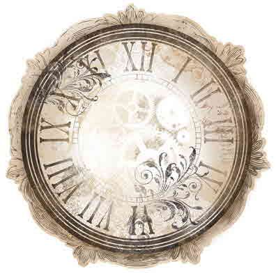 Clockwork Die Cut 12x12 Paper - BoBunny Timepiece