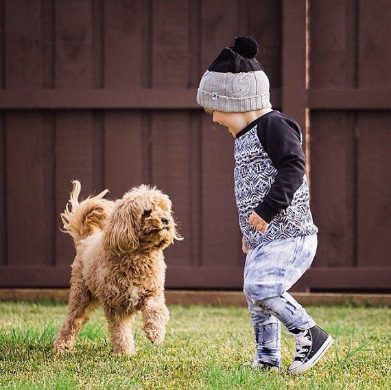 Kids Scuba Jumper / Black Jumper / Boys Sweater by littletrojan