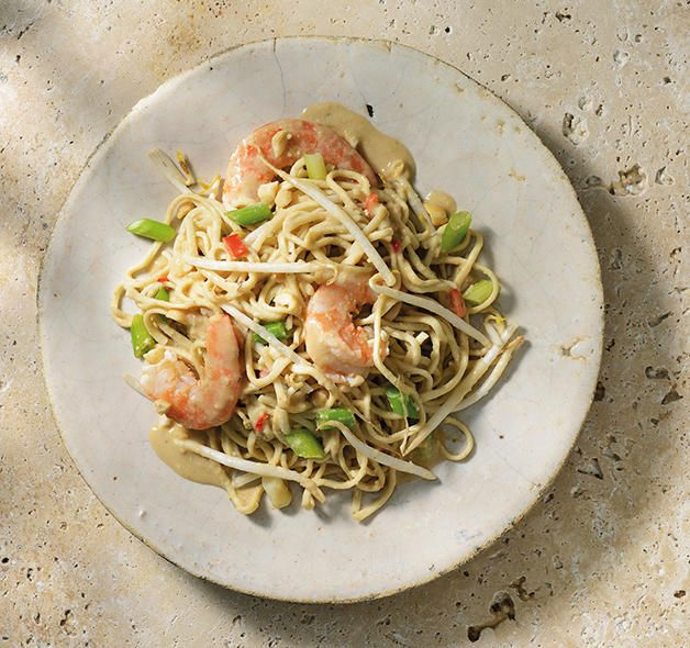Noodles with Scampi created in the KitchenAid Cook Processor