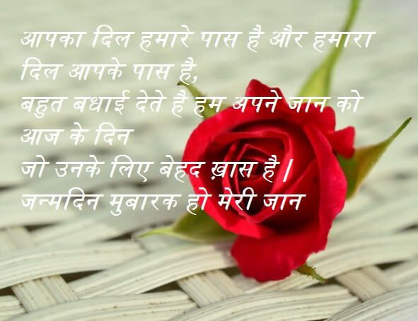 Happy Birthday Hindi Wishes Shayari For Girlfriend Birthday