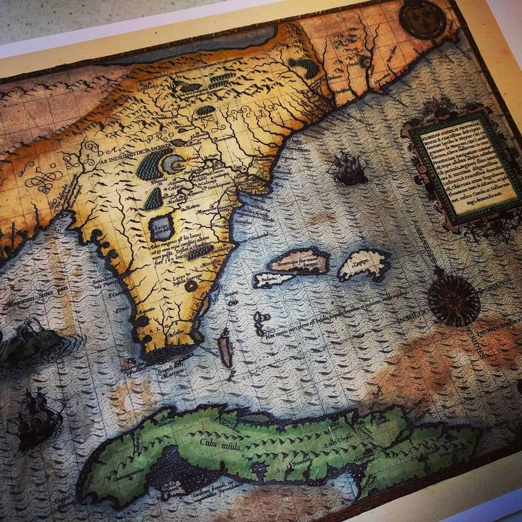 We printed this really cool map of Florida and Cuba from 1591 for a customer this week.  These antiquarian maps look so beautiful once they're touched up and printed on our archival paper! #maps #historic #antiquarian #exploration #florida #cuba #history #mapart #old