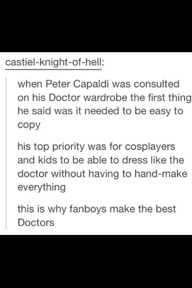 Peter Capaldi is an AWSOME man for wanting his fans to be able to copy his wardrobe