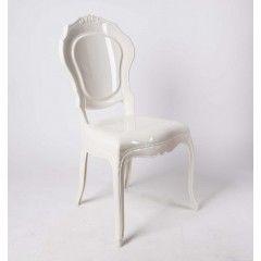 Stuhl Barock Aus Polycarbonat, Weiß Creme