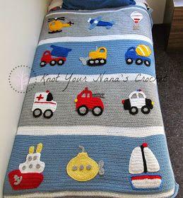 Knot Your Nana's Crochet: Boys Will Be Boys   See applique items under my Crochet: Misc. & embellishments