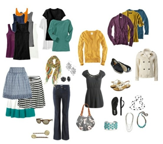 Great jewel tone colors in outfits. Teal, purple and golden