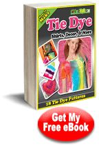 """""""How To Make Tie Dye Shirts, Decor, and More: 18 Tie Dye Patterns"""" eBook from ilovetocreate.com   FaveCrafts.com"""