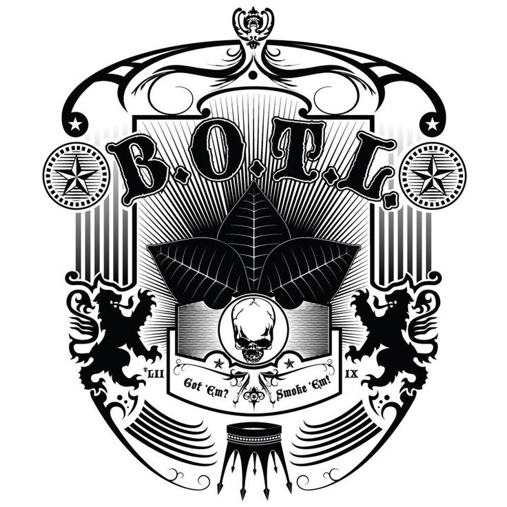 Botl design on white