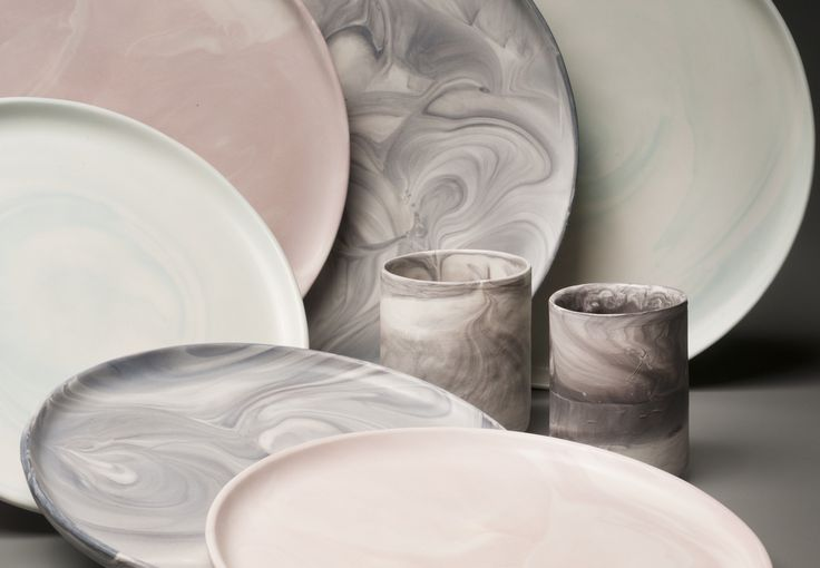 Shot of our new marble collection in a variety of colors.