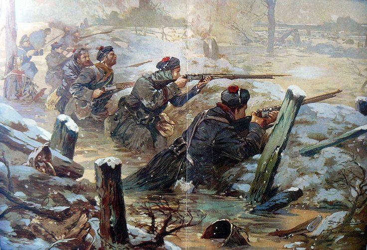 Batalla de Flandes - el heroismo de los infantes de marina franceses. Artista Paul Thiriat. Más en www.elgrancapitan.org/foro