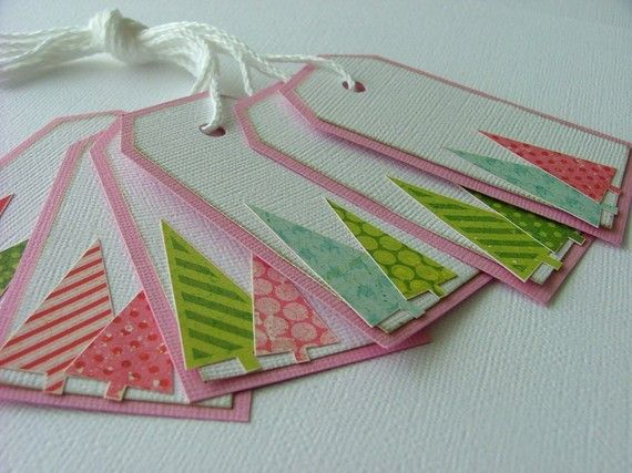 Cute gift tags...will adapt these to make cards