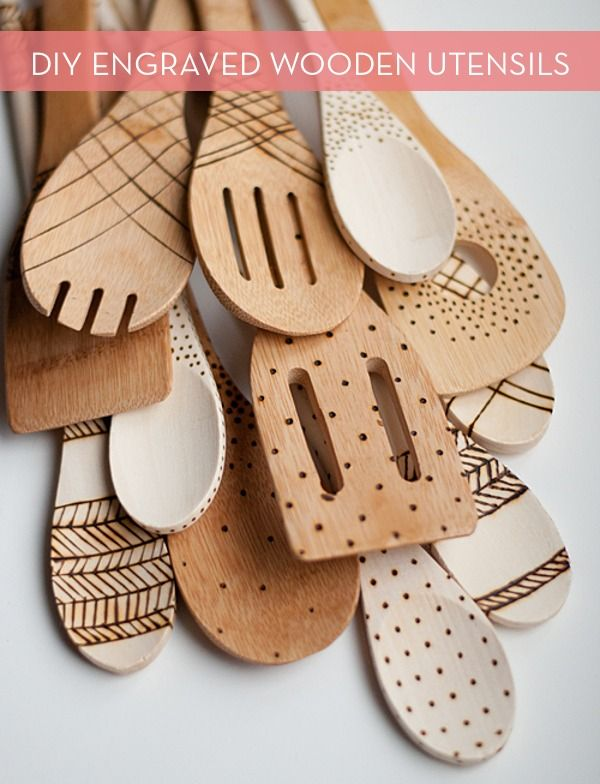 Make It: DIY Engraved Wooden Spoons » Curbly | DIY Design Community