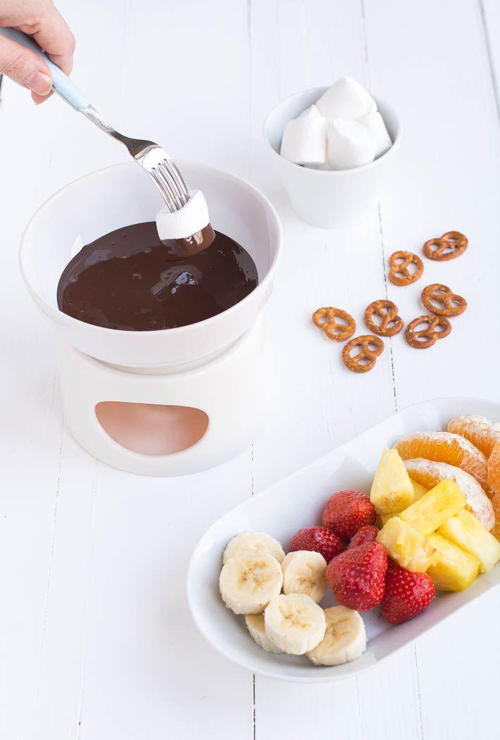 Chocoladefondue #chocolate fondue