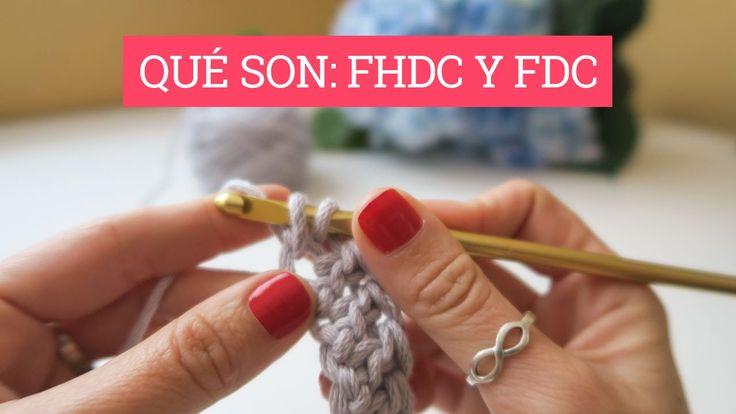 Como hacer una hijlera de puntos altos y o de medios puntos altos a la vez que haces la cadeneta de inicio.  Qué son el FDC y FDHC | How to FHDC and FDC