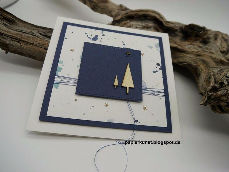 Weihnachtsgekleckse. Papier, das endlich verarbeitet werden wollte. #alexandrarenke #erlebniswelt #cardmaking #kartengestaltung #handmadecards #renke
