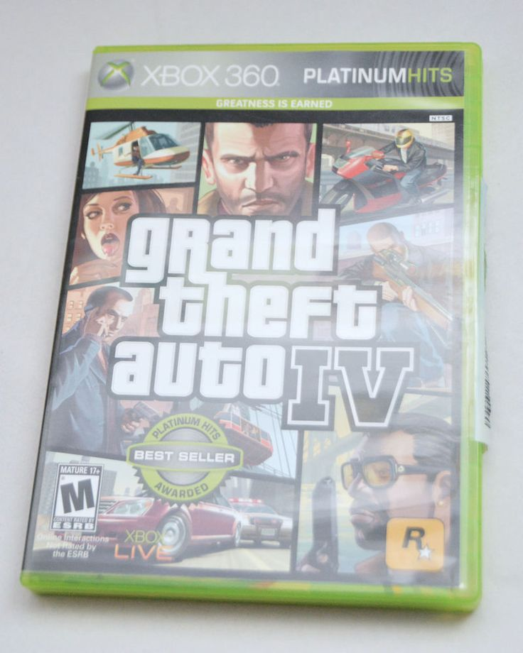 XBOX 360 Game Grand Theft Auto IV GTA 4 Complete with Case, Manual and Map