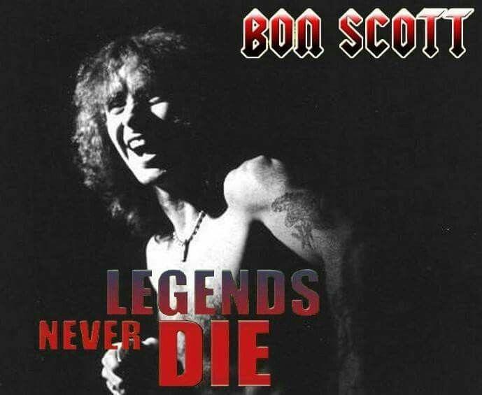 The legend Bon Scot