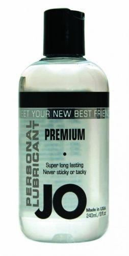 System Jo Premium - Silikone - 240 ml fra SystemJO - Sexlegetøj leveret for blot 29 kr. - 4ushop.dk - JO Premium er en silikone baseret glidecreme. JO Premium benytter den fineste farmaceutiske silikone til rådighed. JO Premium er utrolig holdbar i brug og silkeglat. Den er fremstillet under strenge amerikanske FDA retningslinjer og er latex-safe.