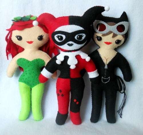 Poison Ivy, Harley Quinn & Catwoman plushies