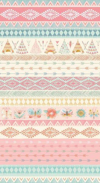 Designerstoffe USA - Stoff Dream Catchers rosa Zelt Pfeile Streifen - ein Designerstück von Naehhimmel bei DaWanda