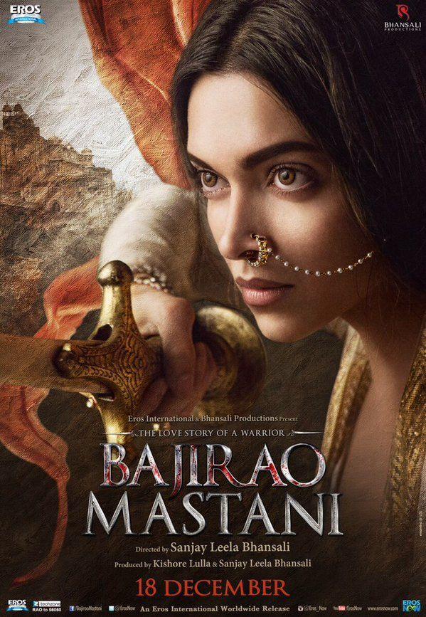 Deepika Padukone as Mastani in Bajirao Mastani - Poster #BajiraoMastani #MastaniPoster #Bollywood #DeepikaPadukone #MoviePoster