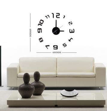 Moderní samolepící hodiny v černé barvě. Číslice jsou pravidelně uspořádané do kruhu. Hodiny můžete umístit dle svých představ na plochu a vytvořit tak nevšední a stylový interiér. Hodinový strojek lze na stěnu zavěsit na háček. Hodiny jsou nejen praktickým, ale především designovým doplňkem Vašeho interiéru.