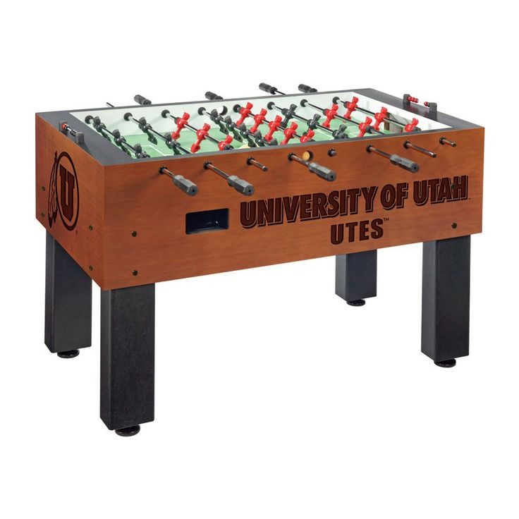 Laser Engraved Utah Utes Foosball Table Soccer