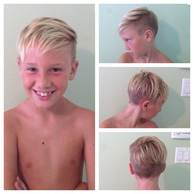 Boys haircut. Child. Undercut.