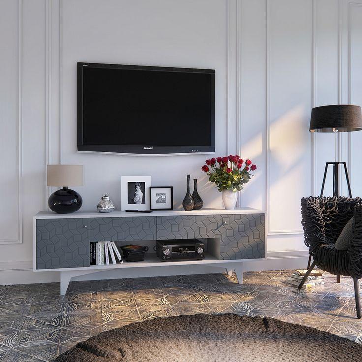 Тумбочка под телевизор: 45 современных идей для гостиной (фото) http://happymodern.ru/tumbochka-pod-televizor-45-foto-sovremennye-varianty-dlya-gostinoj-2/ Изысканный мебельный фасад в современном интерьере